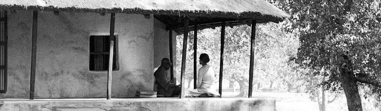 Swami Prajnanpad dans son ashram au Bengale